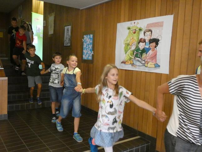 Evakuation aus dem Schulhaus